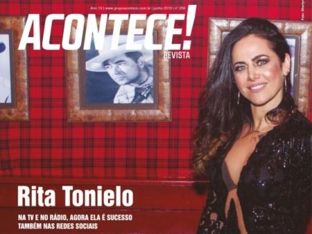 Rita Tonielo - Na TV e no rádio, agora ela é sucesso também nas redes sociais.