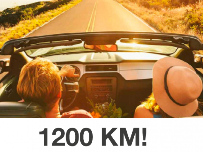 1200 KM!